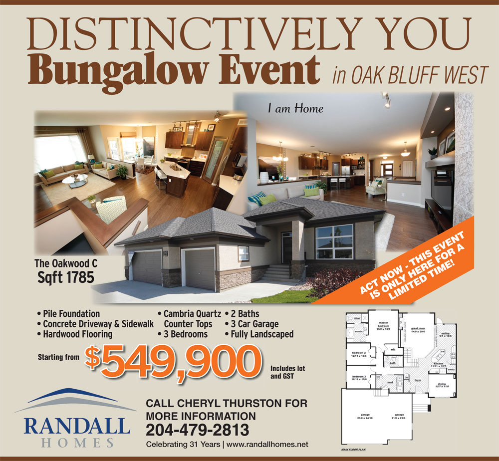 Bungalows - Randall Homes - Custom Homes - Winnipeg - Manitoba