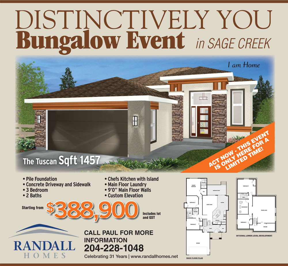 Bingalows - Randall Homes - Custom Homes - Winnipeg - Manitoba