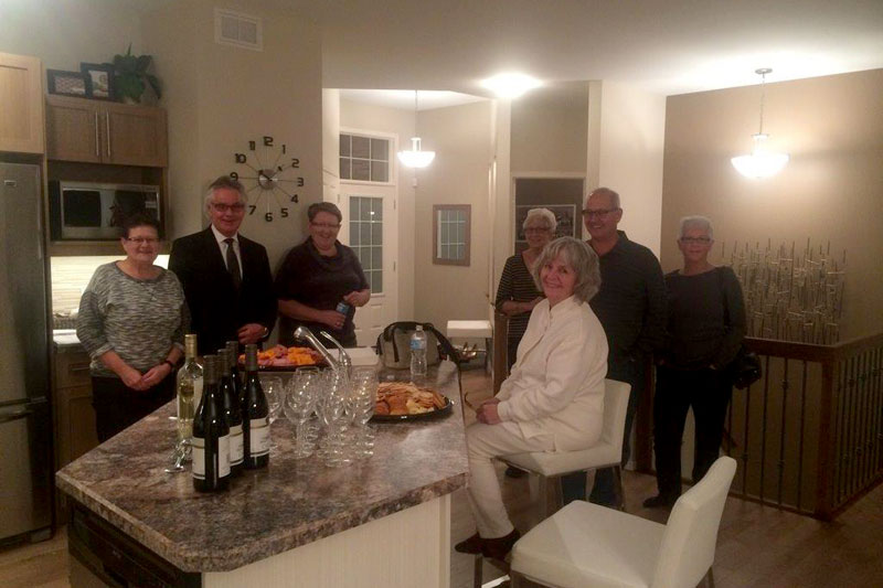Wine & Cheese Event - Oakwood Estates - Randall Homes
